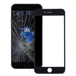 Glaslins med ram för LCD till iPhone 8 - Svart