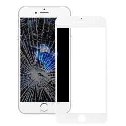 Glaslins med ram för LCD till iPhone 8 - Vit