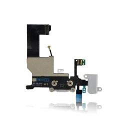 iPhone 5 Laddkontakt & hörlurskontakt med flexkabel - Vit