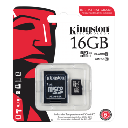 Kingston Minneskort 16GB microSDHC UHS-I Class 10 Industrial & S