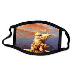 Tvättbar munskydd i Tyg - Pokémon - 3 lager (Growlithe/Arcanine)