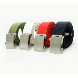 Textilbälte i beige, olivgrön, svart,vit eller marin MarineBlue Marin