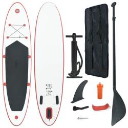 vidaXL SUP surfingbräda uppblåsbar röd och vit Röd