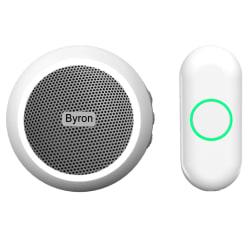 Byron Trådlös dörrklocka plug-in vit Vit