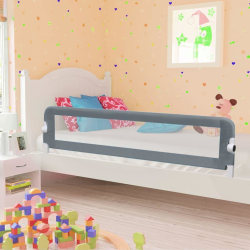 vidaXL Sängskena för barn grå 180x42 cm polyester Grå
