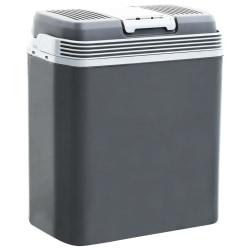 vidaXL Portabel termoelektrisk kylbox 24 L 12 V 230 V A+++ Grå