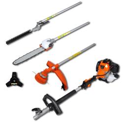 vidaXL Multiverktyg 4-i-1 häck- & grästrimmer, motorsåg och  Orange