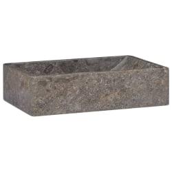 vidaXL Handfat grå 45x30x12 cm marmor Grå