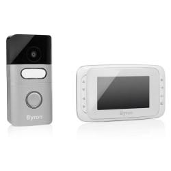 Byron Trådlös portabel videodörrklocka 16,4x13,5x2 cm vit Vit