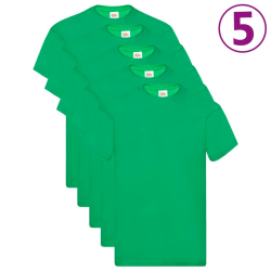 Fruit of the Loom Original t-shirt 5-pack grön stl. XXL bomull Grön