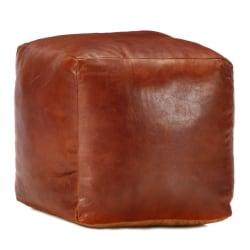 vidaXL Sittpuff brun 40x40x40 cm äkta getskinn Brun