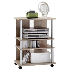 FMD TV-/HiFi-hylla med 3 fack 65x40x79,2cm ek Beige