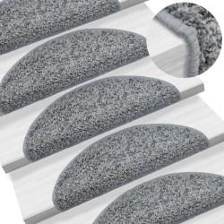 vidaXL 15 st Trappstegsmattor grå 65x25 cm Grå