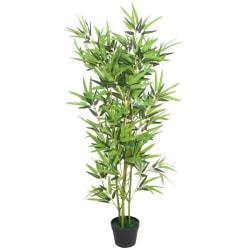 vidaXL Konstväxt Bambu med kruka 120 cm grön Grön