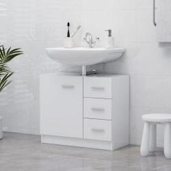 vidaXL Tvättställsskåp vit 63x30x54 cm spånskiva Vit