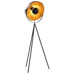 vidaXL Golvlampa E27 svart och guld 41 cm Svart