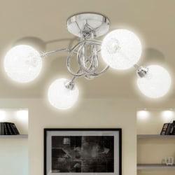 vidaXL Taklampa med trådskärmar för 4 G9-lampor Transparent