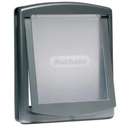 PetSafe 2-vägslucka för husdjur 777 stor 35,6x30,5 cm silver 502 Silver