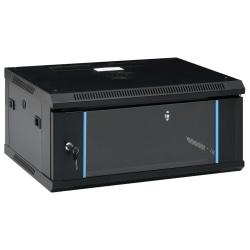 """vidaXL 4U Nätverksskåp väggmonterat 19"""" IP20 600x450x285 mm"""