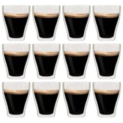 vidaXL Latte Macchiato-glas dubbelväggiga 12 st 370 ml Transparent