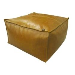 Overseas Sittpuff 60x60x30 cm konstläder konjak Brun