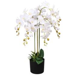 vidaXL Konstväxt Orkidé med kruka 75 cm vit Vit