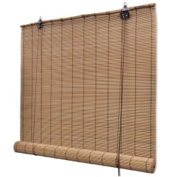 vidaXL Rullgardin bambu 150x160 cm brun Brun