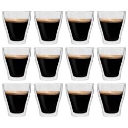 vidaXL Latte Macchiato-glas dubbelväggiga 12 st 280 ml Transparent