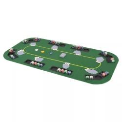 vidaXL Hopfällbar pokerbordsskiva 8 spelare rektangulärt 4-sidig Grön