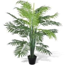 vidaXL Konstväxt Palmträd med kruka 130 cm Grön