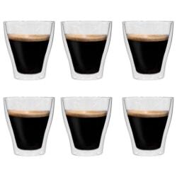 vidaXL Latte Macchiato-glas dubbelväggiga 6 st 280 ml Transparent