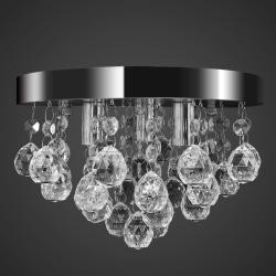 vidaXL Takkrona kristall och kromad Transparent