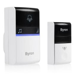 Byron Trådlös dörrklocka plug-in grå Grå