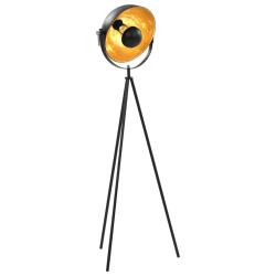 vidaXL Golvlampa E27 svart och guld 31 cm Svart
