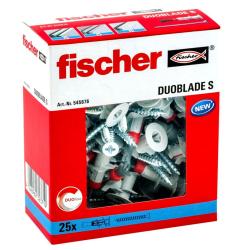 Fischer Fisch Gipsplugg med skruv DUOBLADE S 25 st