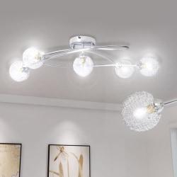 vidaXL Taklampa med trådskärm för 5 G9-glödlampor Transparent