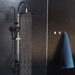 SCHÜTTE Duschset med regndusch MATAO RAIN matt krom svart Svart