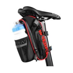 Cykelväska Inbike - sadelväska - vattenflaska - cykling Svart/Röd