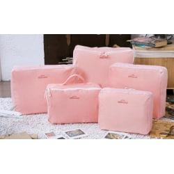 Insatser till resväskor (5 pack) - Bag in Bag (Rosa/aprikos)
