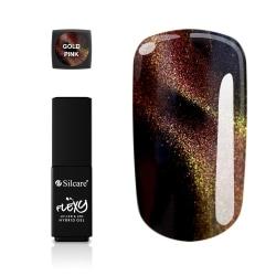 Flexy - Hybrid gel - Cat Eye - Gold Pink - 4,5 gram Guld