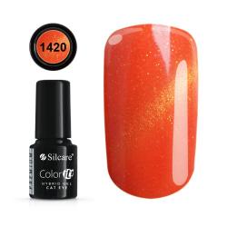Gellack - Hybrid Color IT Premium -  Cat eye - 1420 - Silcare Röd