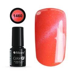 Gellack - Hybrid Color IT Premium - Cat eye - 1460 - Silcare Röd