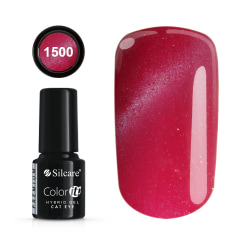 Gellack - Hybrid Color IT Premium - Cat eye - 1500 - Silcare Mörkrosa