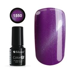 Gellack - Hybrid Color IT Premium - Cat eye - 1550 - Silcare Mörklila