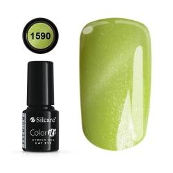 Gellack - Hybrid Color IT Premium - Cat eye - 1590 - Silcare Ljusgrön