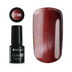 Gellack - Hybrid Color IT Premium - Cat eye - 2700 - Silcare Vin, röd