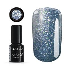 Gellack - Hybrid Color IT Premium - Unicorn - 2430  - Silcare Blå