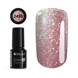 Gellack - Hybrid Color IT Premium - Unicorn - 2490  - Silcare Ljusrosa