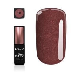 Silcare - Flexy - Hybrid gel - Color: 197 - 4,5 gram Vin, röd
