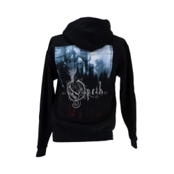 Svart huvtröja med band tryck - Opeth S